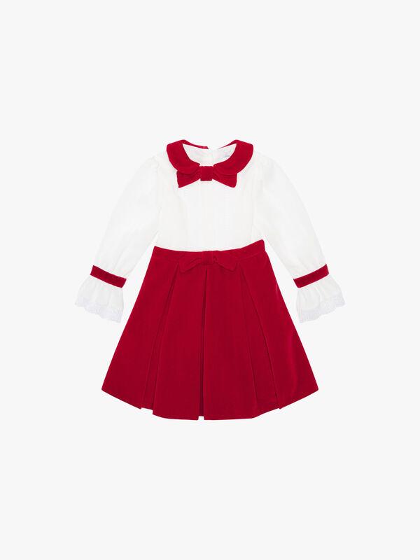 Velvet Skirted Dress