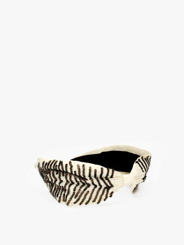 Embellished Zebra Headband