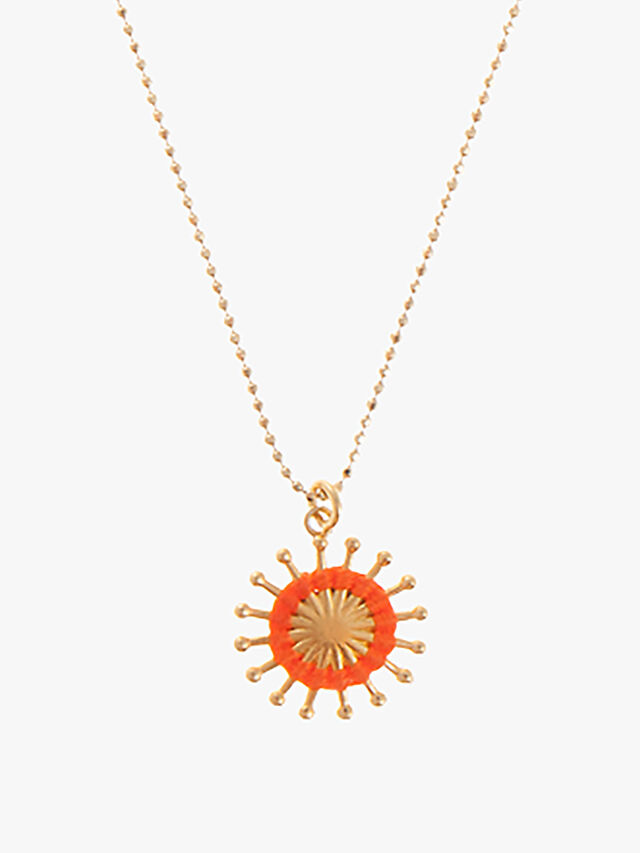 Sunburst Short Pendant Necklace