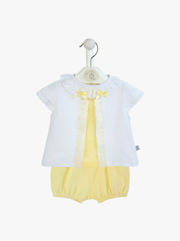 Ruffle Top with Bow Detail & Pants