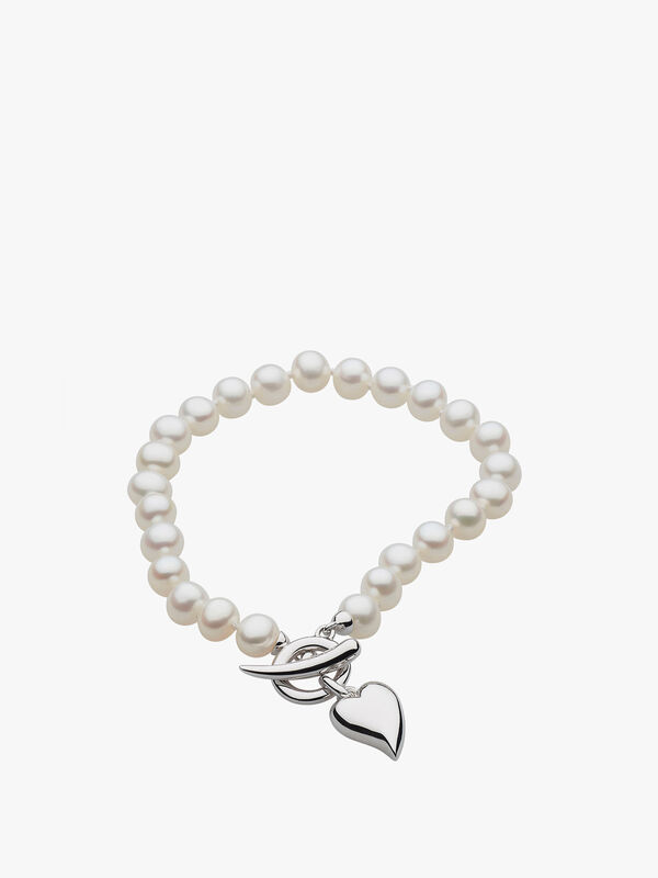 Desire Lustrous Heart Freshwater Pearl Bracelet