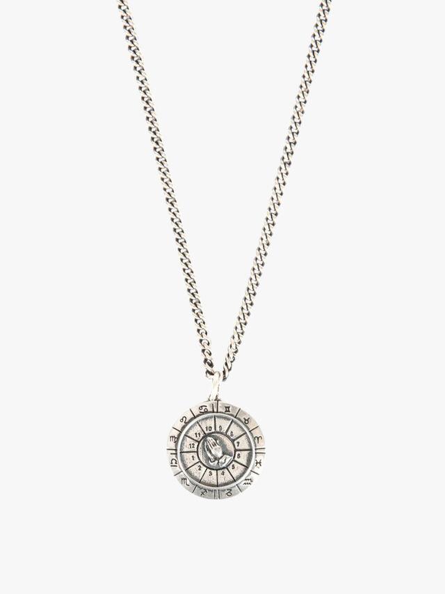 Silver Zodiac Dial Necklace