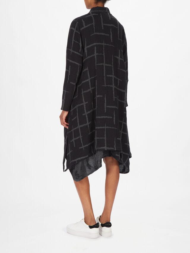 Ikava Cross Pattern Coat