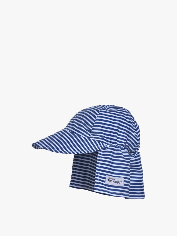 Striped Flap Hat