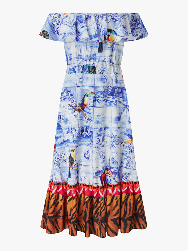Off The Shoulder Toucan Dress