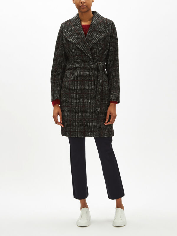 Woven Coat Wool Check
