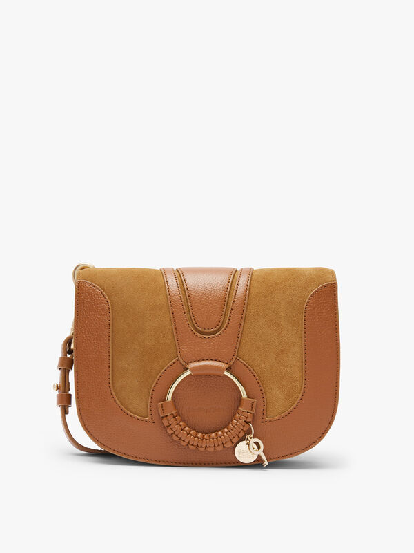 Hana Medium Suede Leather Crossbody Bag