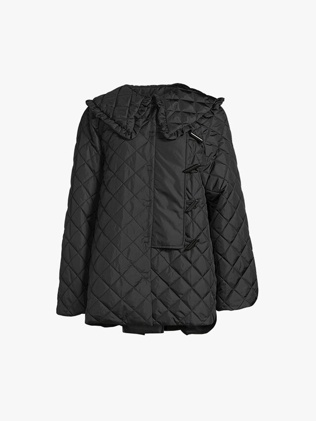 Recycled Ripstop Quilted Collared Jacket