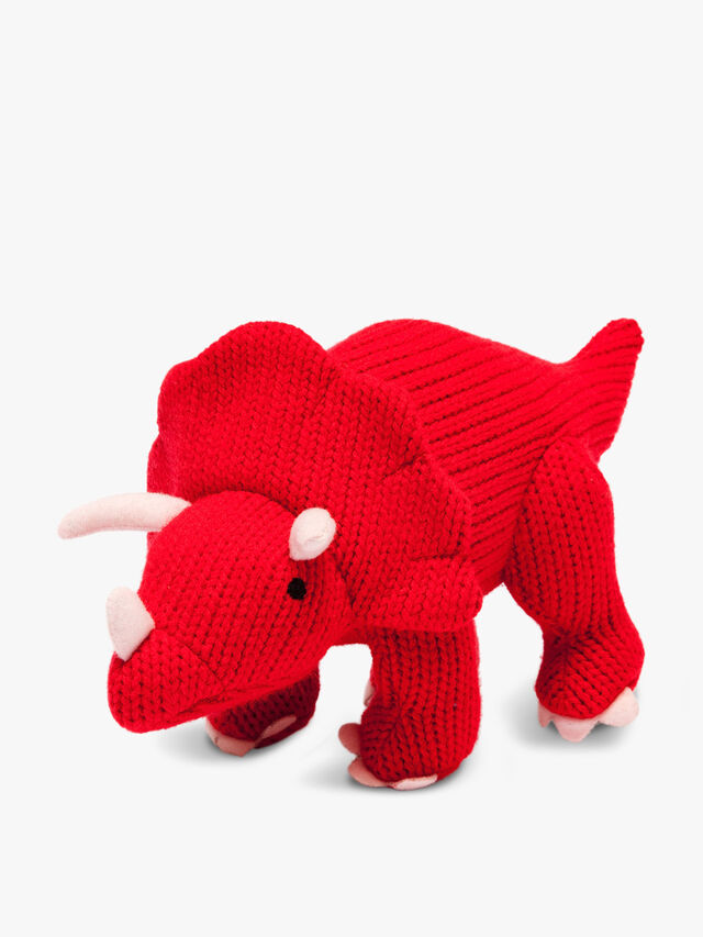 Knitted Triceratops Large Toy
