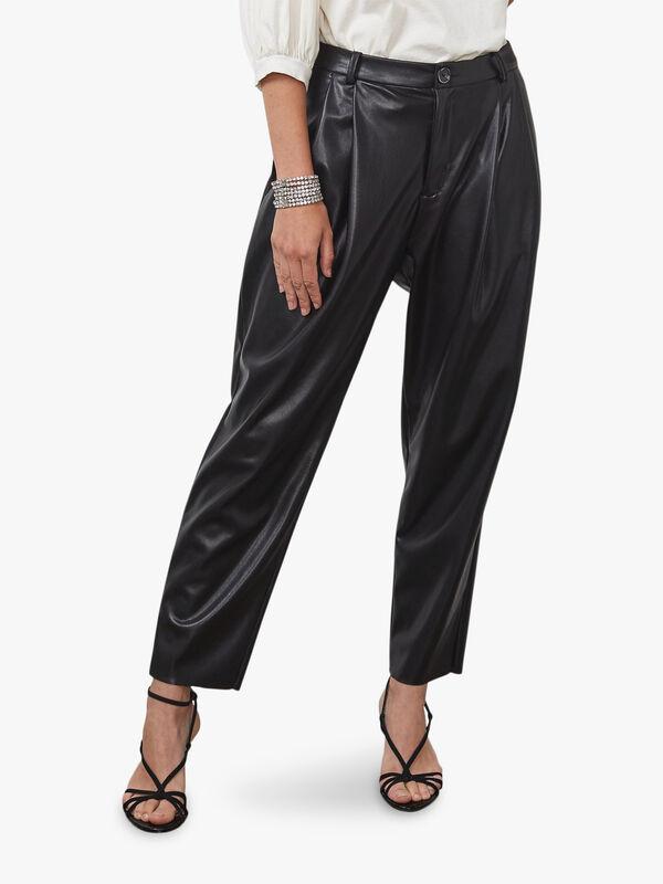 Vegan Leather Trouser