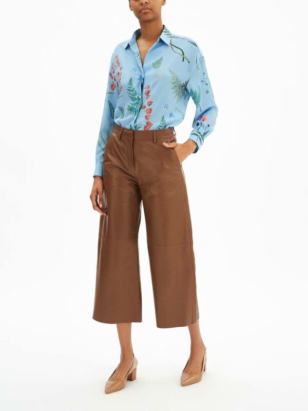 Atalia Leather Wide Leg Pant