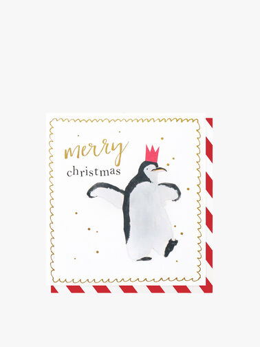 Merry Christmas Penguin Card Pack of 8
