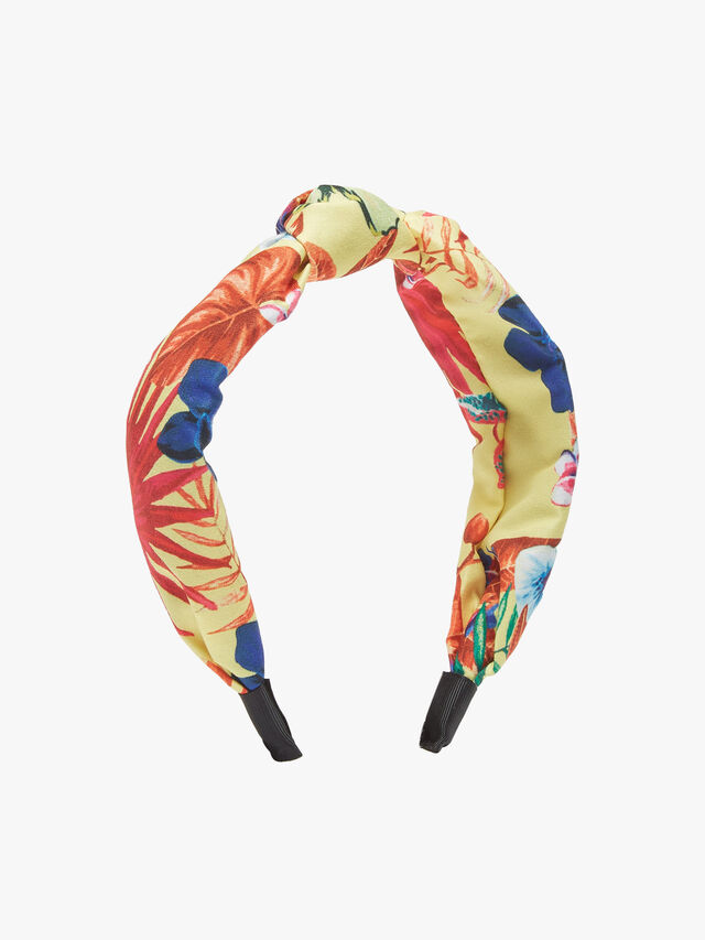 Tropical Print Knot Headband