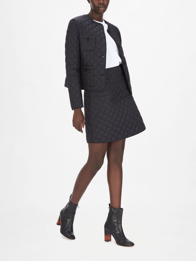 Quilted Short Jacket With Pockets
