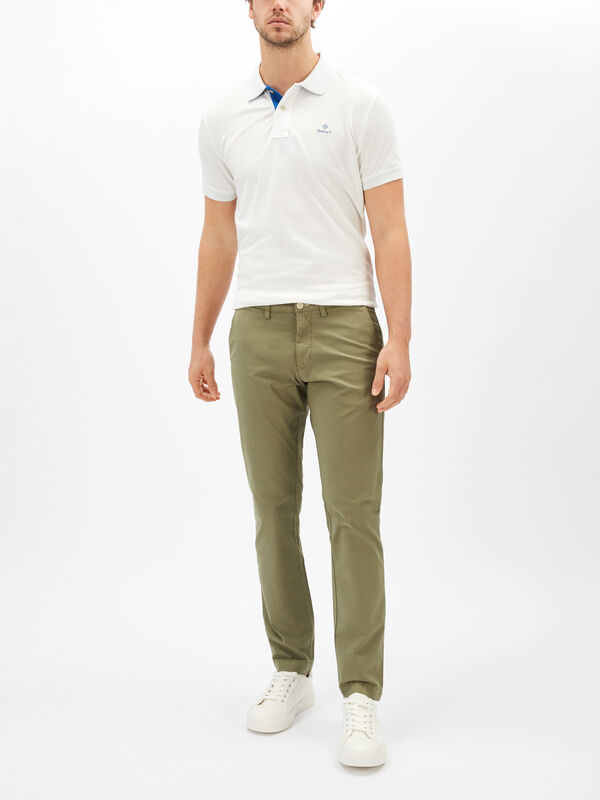 Slim Fit Sunfaded Chinos