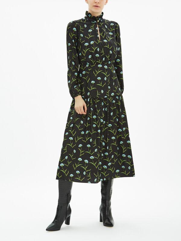 Eugenia Satin Carnation Dress