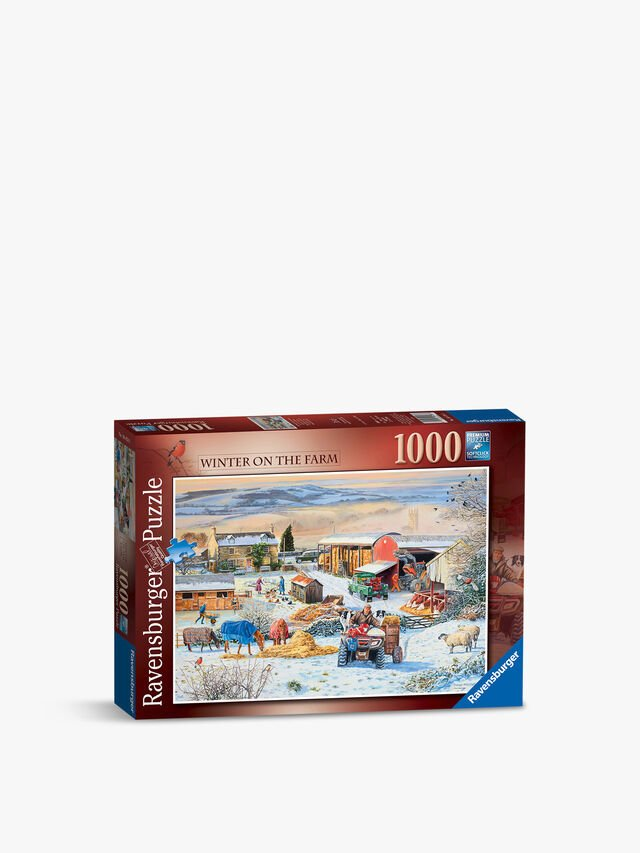 Winter on the Farm Puzzle 1000pc