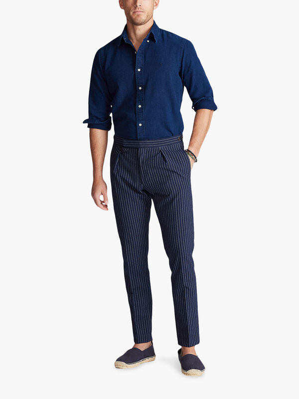 Oxford Indigo Long Sleeve Slim Fit Shirt