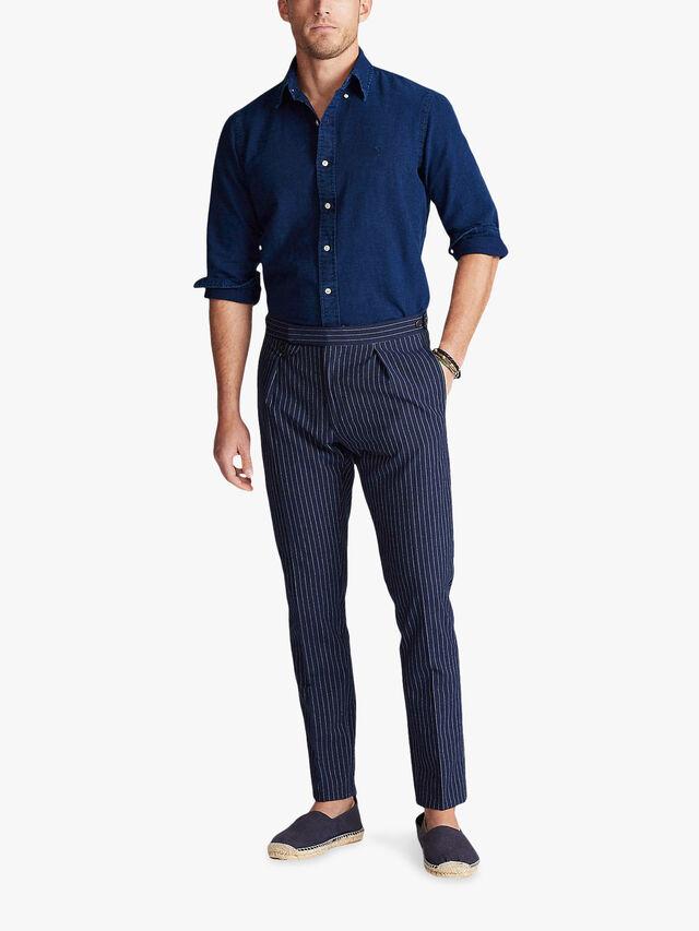 Oxford Indigo Long Sleeve Slim Fit Shirt