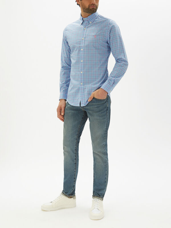 Slim Fit Gingham Poplin Shirt