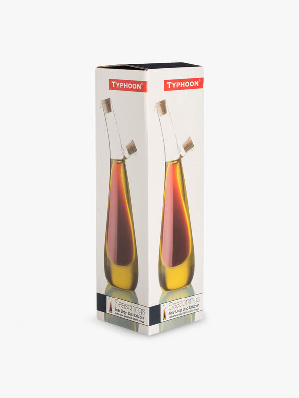 Tear Drop Glass Duo Drizzler