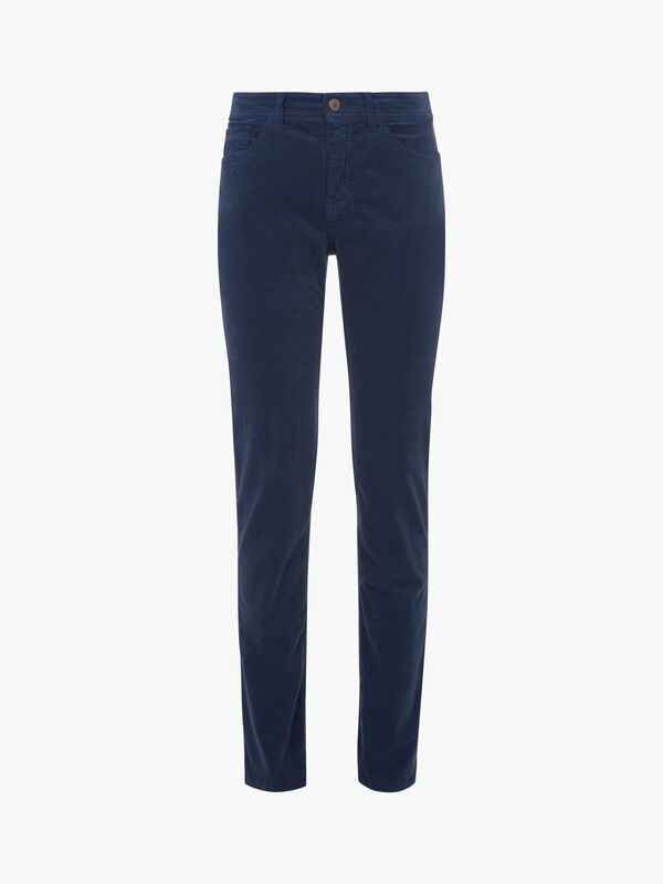 Stretch Velvet Slim Leg Jean