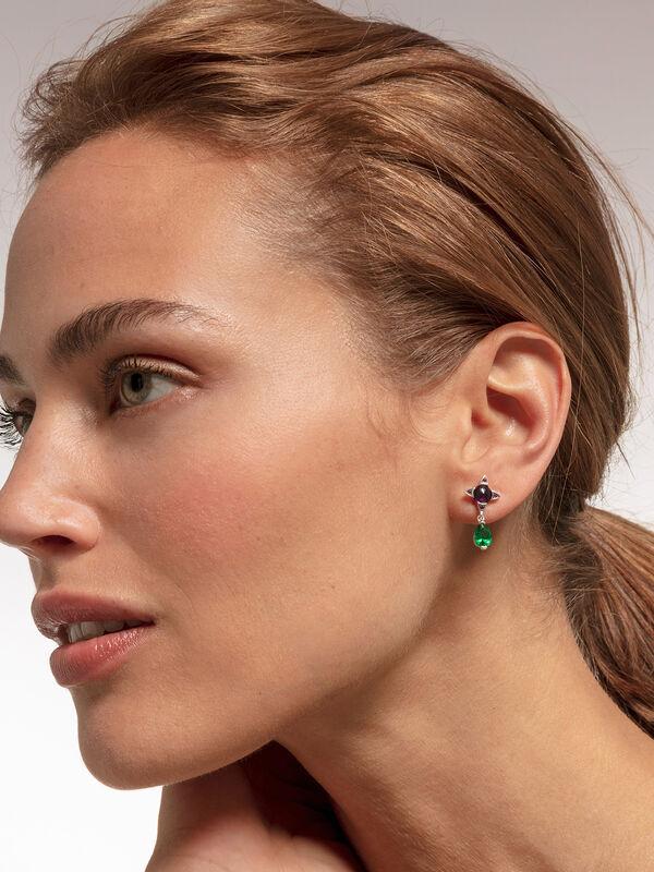 Magic Stones  Pear Drop Earrings