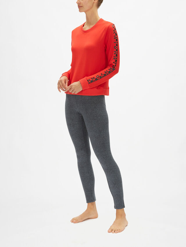 100% DKNY Long Sleeve Sleep Top
