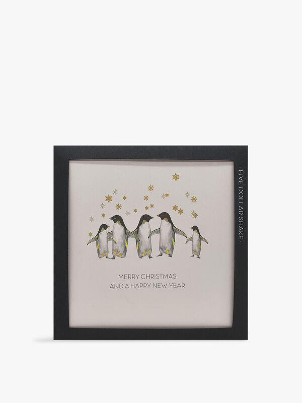 Merry Christmas and a Happy New Year Penguins Pack of 6