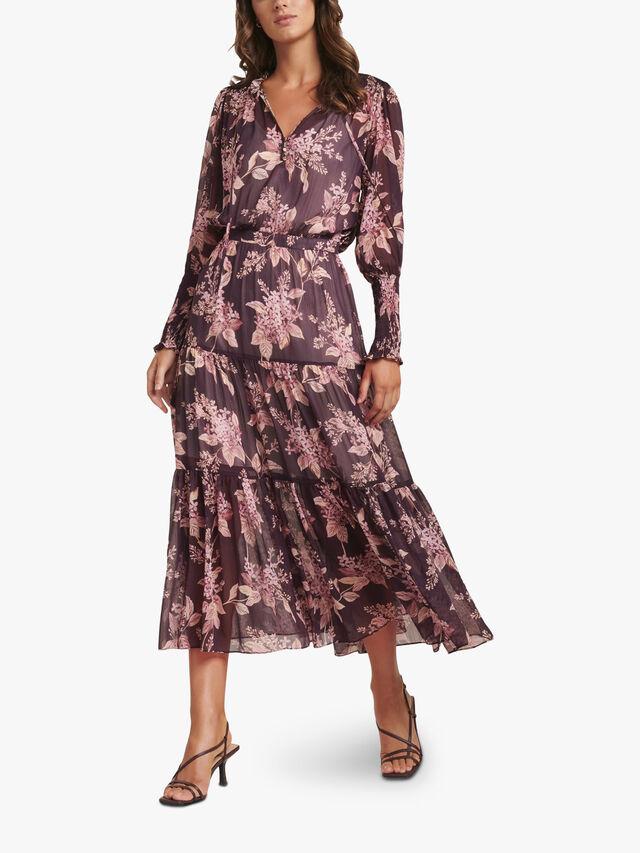Violet Tiered Midi Dress