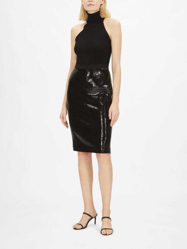 Saba Jersey Midi Skirt