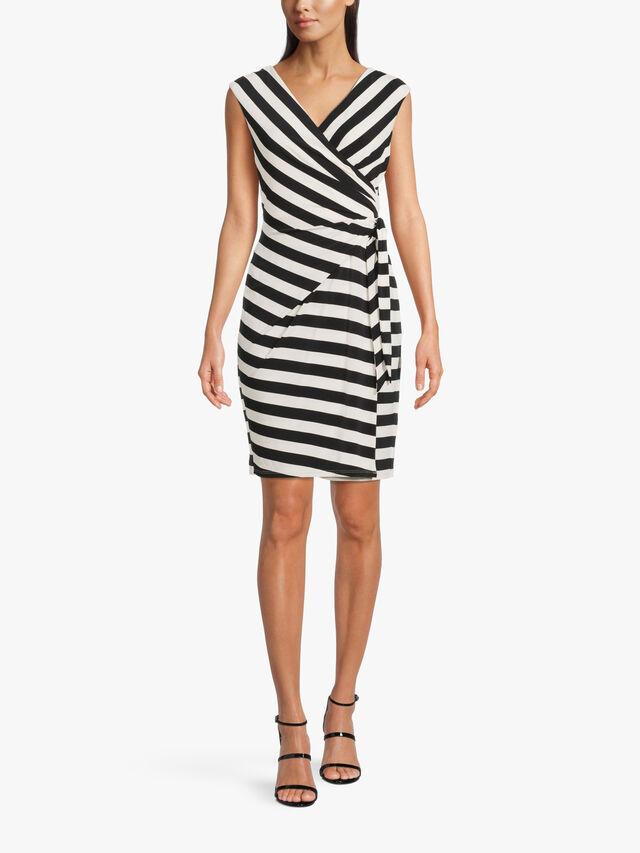 Saida Capri Stripe Knee Length Dress