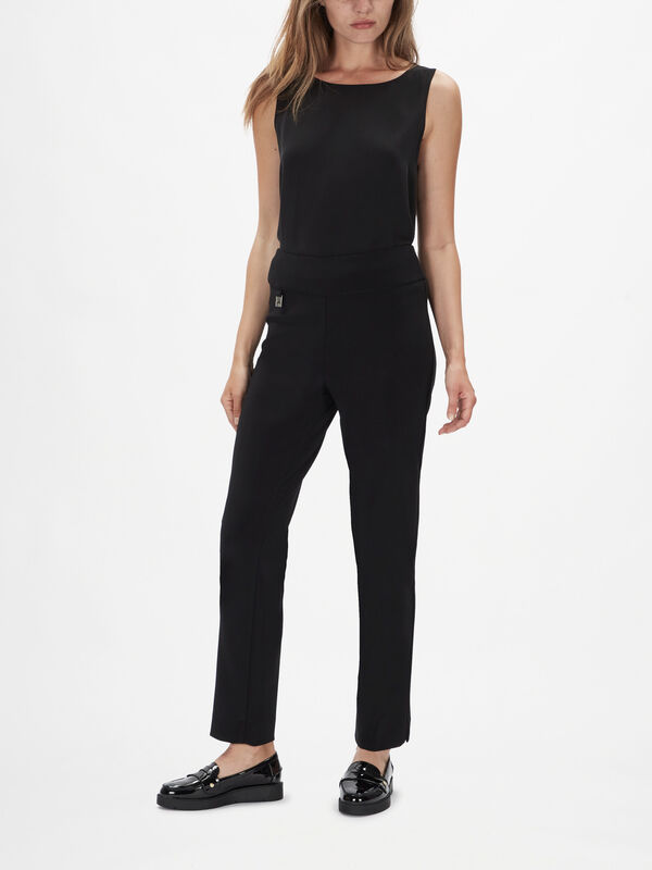 Basic Slim Leg Trousers
