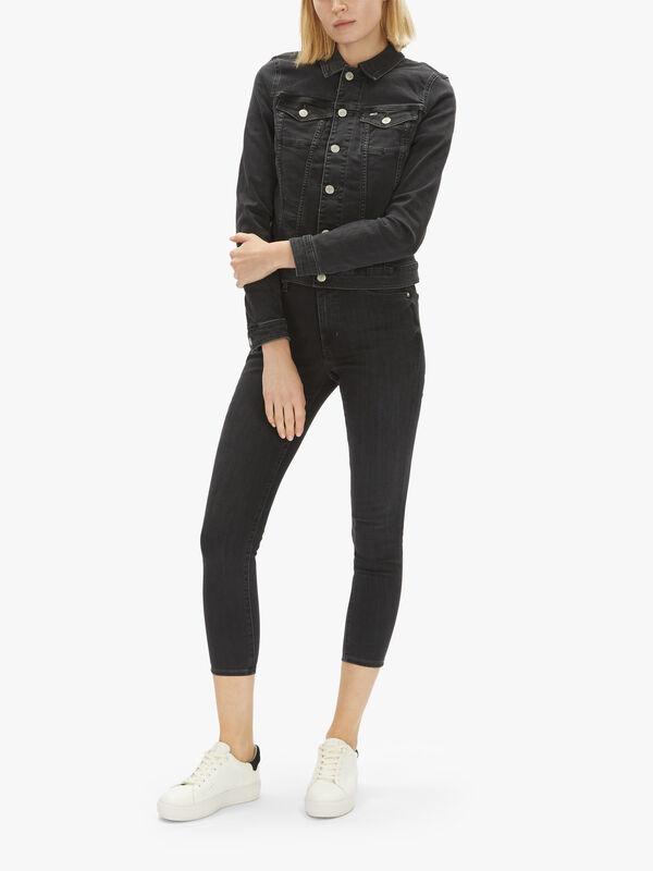 Vivianne Slim Denim Trucker Jacket