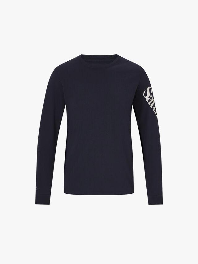 Warped Logo Long Sleeve T-Shirt