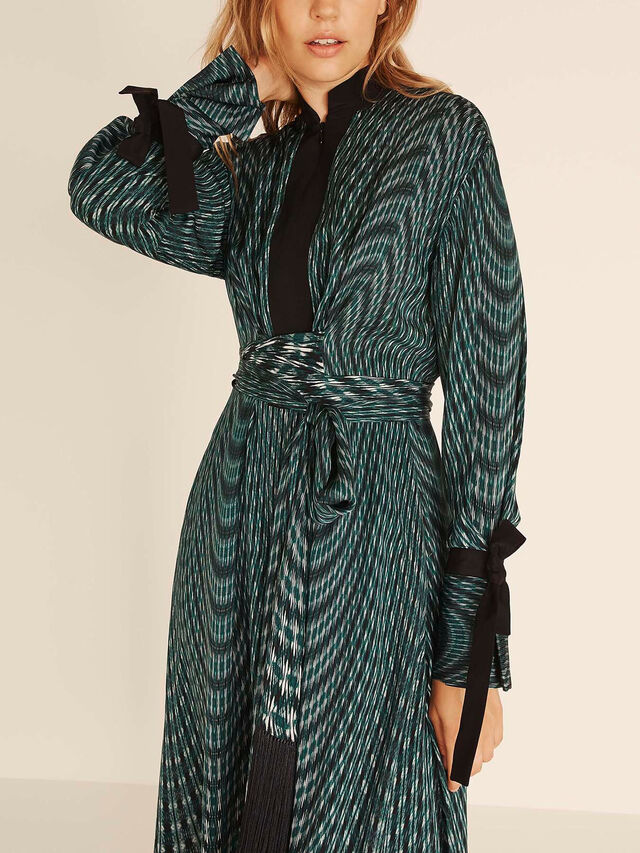 Kaleidoscope Print Zip Front Dress