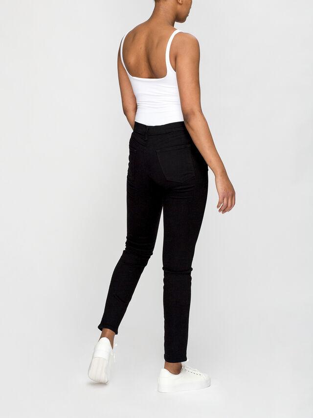 Ruby Slim High Rise Crop Jeans