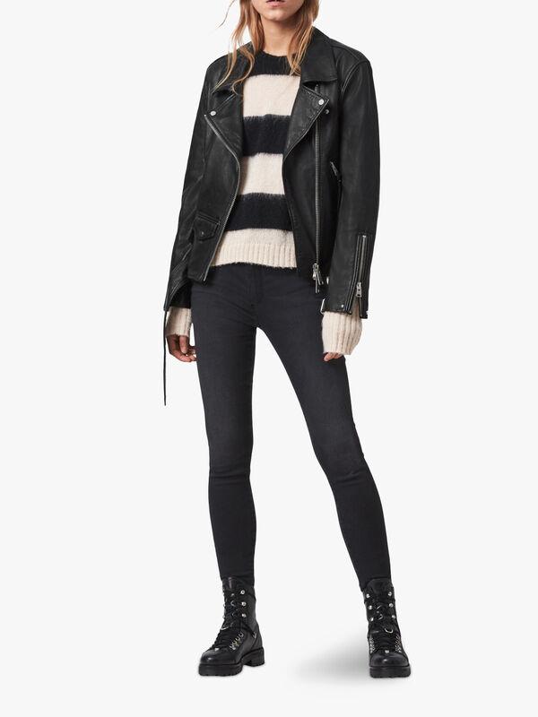 Luna Leather Biker Jacket