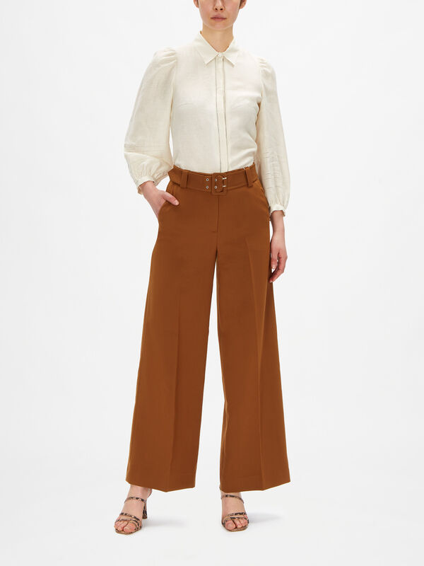 Cullotte Trouser With Belt