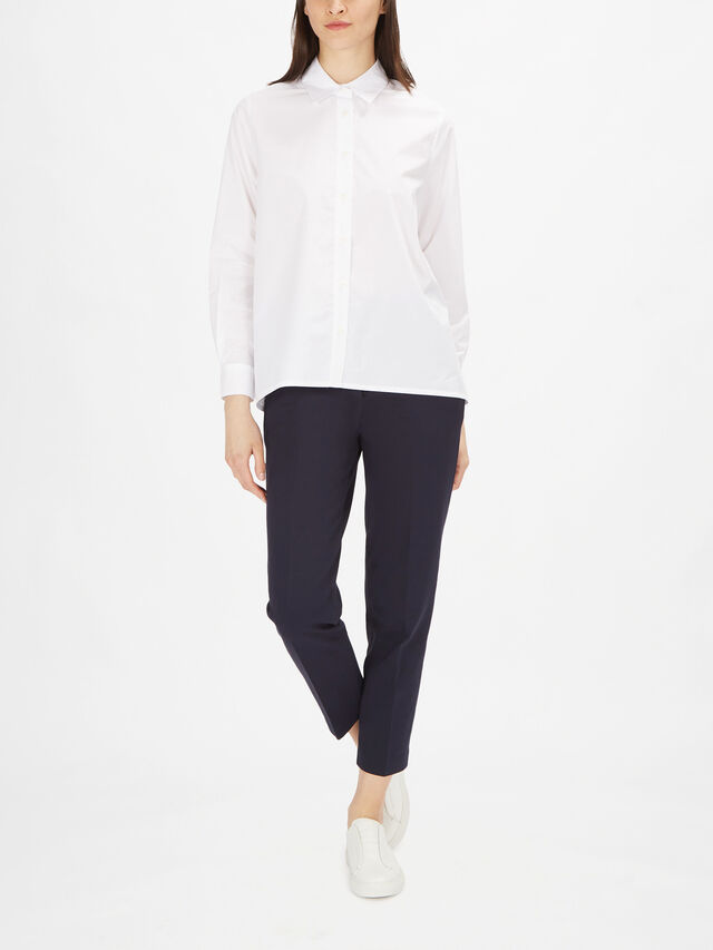Indini Drop Hem Cotton Shirt