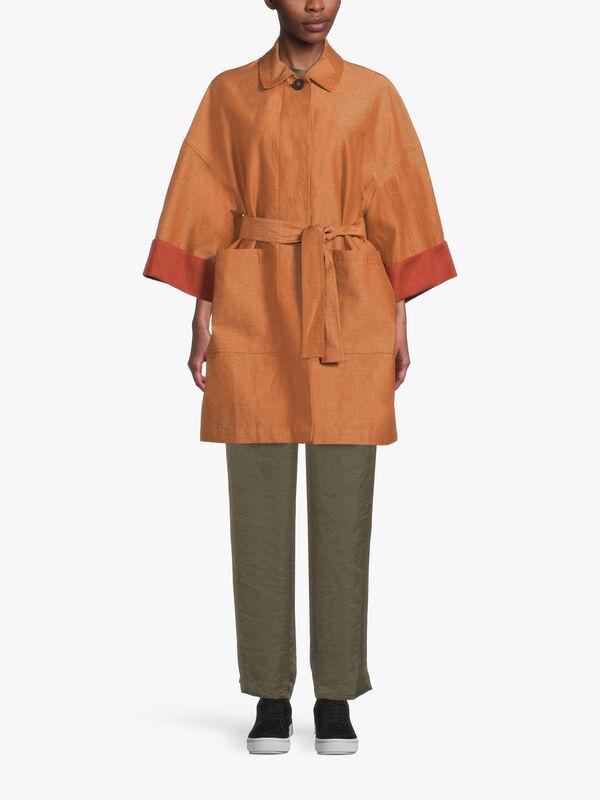 Roma Sleeve Long Coat