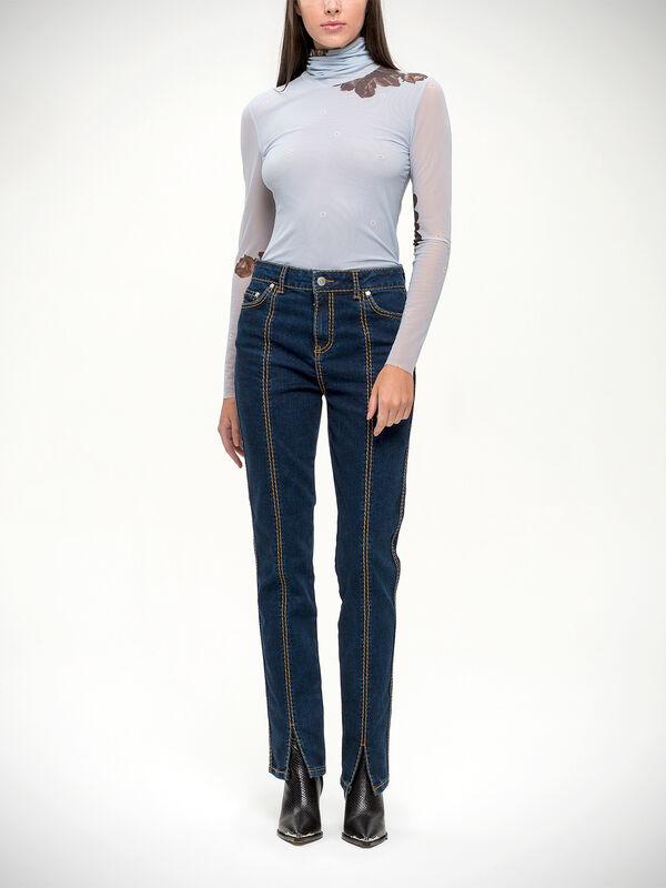 Light Stretch Stitched Jeans