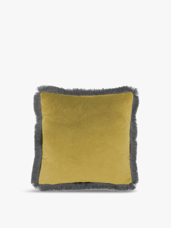 Lapis Fringed Cushion