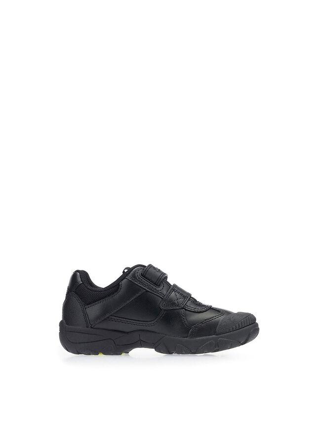 Tarantula Black Leather School Shoes