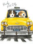 Dogs In Car Print Top