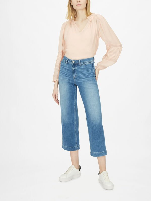 Nellie Culotte W/ Front Welt Pockets Jeans