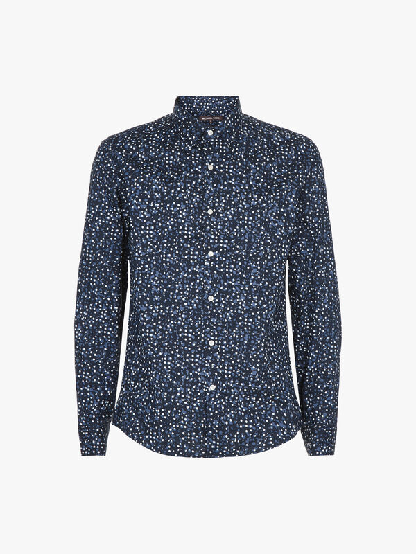 Slim Paint Splatter Print Shirt