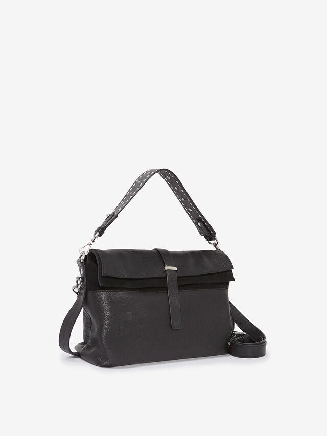 Amber Black Stud Crossbody Bag