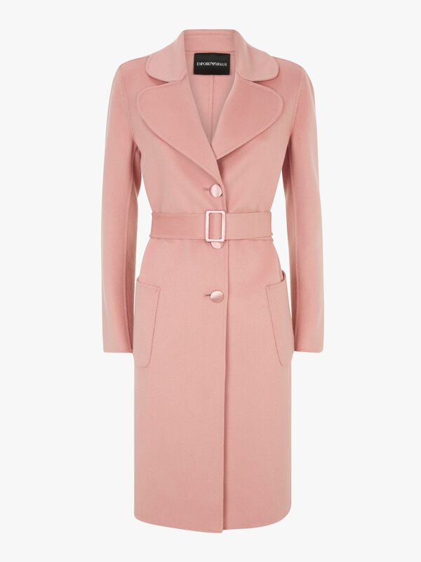 V Neck Belted Coat
