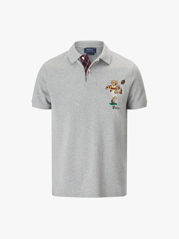 Custom Slim Fit Bear Polo